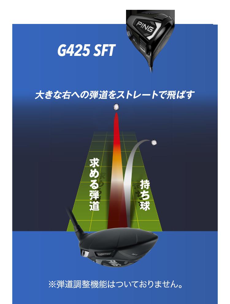 G425 SFT:【大きな右への弾道をストレートで飛ばす】※弾道調整機能はついておりません。